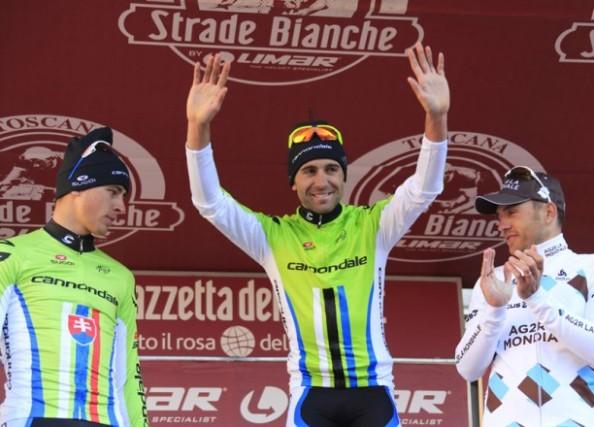 Moser, junto a Sagan y Nocentini en el podium (foto:velonews.com)