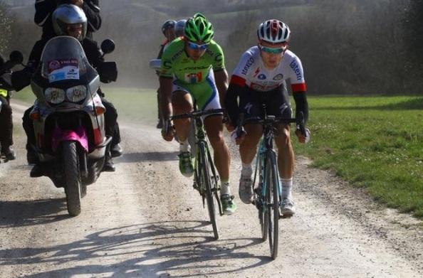 Kwiatowski y Sagan protagonizaron un memorable duelo en Strade Bianche 2014.