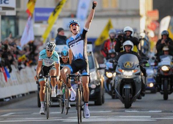 Sep Vanmarcke 2012 en la Omloop het Nieuwsblad (foto:bicycling.com)
