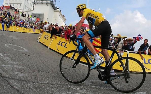 Froome en el pasado Tour de Francia (foto:telegraph.co.uk)