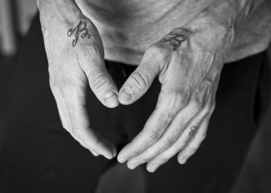 Las manos del campeón.